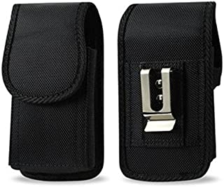 Golden Sheep Pouch Compatible for Samsung Galaxy S9 S8,S7,S6, S6 Edge, J3,A5 XXL Size Vertical Nylon Case Holster with Bel...