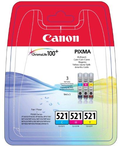 Canon Tintenpatrone CL-521 C/M/Y - Original für Tintenstrahldrucker