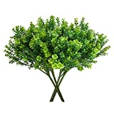 DWANCE 4 pcs Plantas Artificiales de Trébol Plantas Artificiales Decorativas con 6 Ramas Plantas Artificiales Exterior Verde para Boda, Jardín, Fiestas