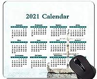 2021マウスパッドカレンダー、石の宗教スピリチュアリティラバーマウスパッド