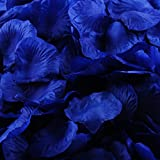 Nine to Nine Pack of 1000 Rose Petals, Artificial Flowers for Decoration Wedding Party(Royal Blue)