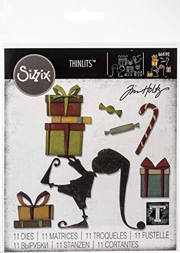 Sizzix Set di Fustelle Thinlits Aiutante di Babbo Natale, Multicolore