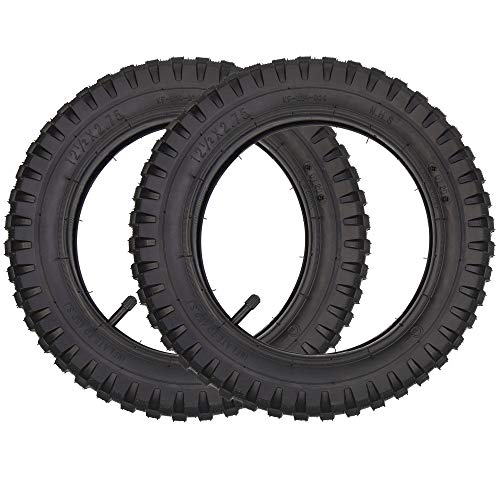 2 Sätze mit 12 1/2 x 2,75 (12,5 x 2,75) Reifen + Innenschlauch Ersatz für Rasiermesser Dune Buggy Dirt Rocket MX350 MX400 TR13 Vorbau