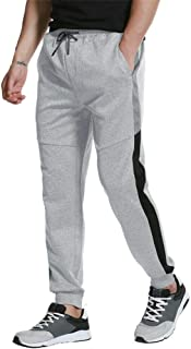 JINSHI Men's Sport Track Pants Gym Fitness Training Workout Sweatpants Classic Fitted Causal Trousers with Pockets