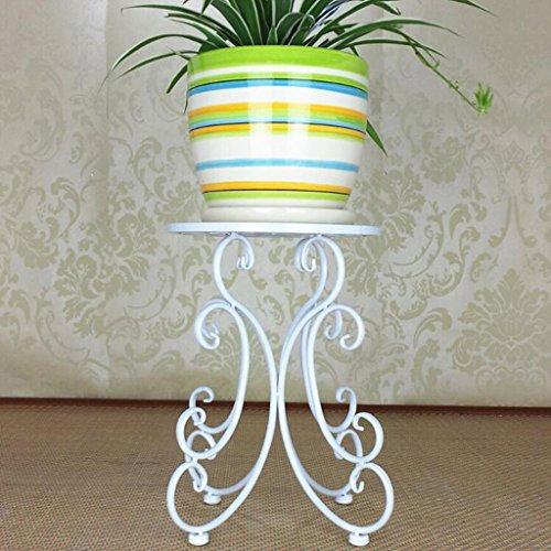 TONG Offre spéciale Iron Art Corbeille à Fleurs Corbeille de Jardin à Plusieurs étages Étagères Étagère de Salon personnalité (Color : White)