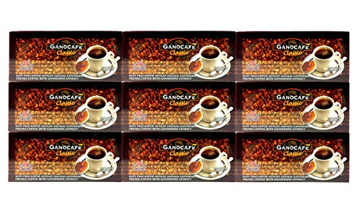 9 x GANO EXCEL Black Coffee Classic With Ganoderma Lucidum + Include Hot Chocolate + Include Expedited Shipping