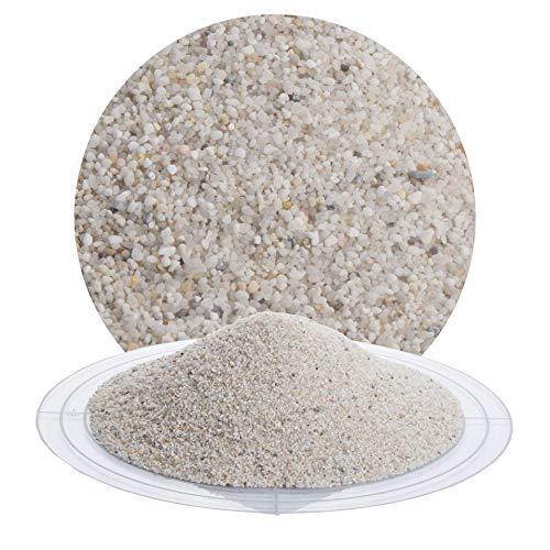 Fugensand weiß 25 kg; heller, feiner Quarzsand in verschiedenen Körnungen von Schicker Mineral, speziell geeignet für enge Fugen, Einkehrsand für Pflasterfugen (0,71-1,25 mm)