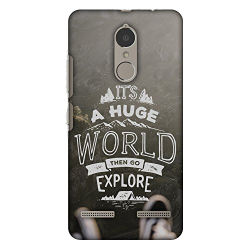 AMZER Slim Handcrafted Designer Printed Hard Shell Case Back Cover for Lenovo K6 Power - Explore The World