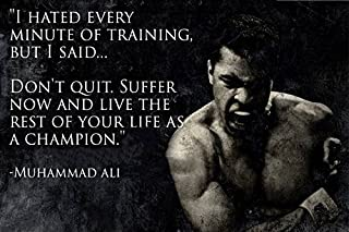 Fitness Motivation Ali's Poster Print(18 inch X 12 inch, Rolled)