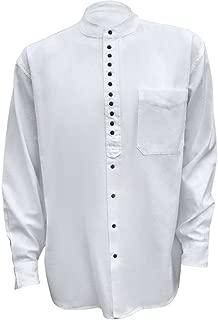 Irish Grandfather Collarless Shirt White