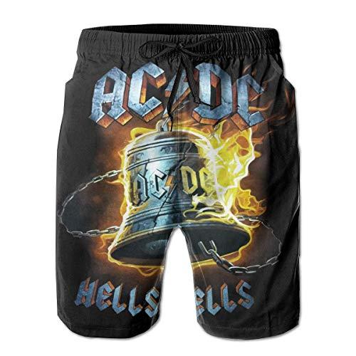 Shichangwei Ac-Dc Hombres Pantalones Cortos De Natación Troncos De Secado Rápido Impermeable Junta Pantalones De Playa Bolsillos