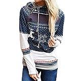 TWIFER Weihnachts Kapuzenpullover Zipper Dots Weihnachtskostüm Kapuzenpullover Bluse Sweater