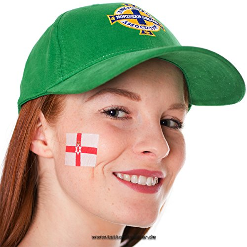 25 x Nordirland Tattoo Fan Fahnen Set - Northern Ireland Temporary Tattoo Flag (25)