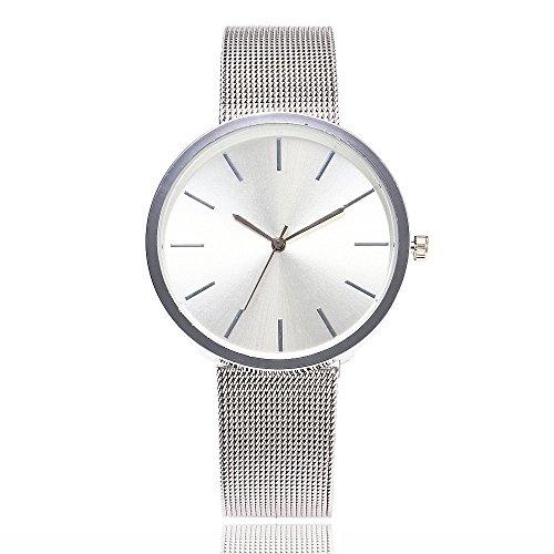 Armbanduhr Damen Ronamick Vansvar beiläufige Quarz-Edelstahlband-Newv Bügel-Uhr-analoge Armbanduhr Armband Armbanduhr Uhr Uhren(SL)