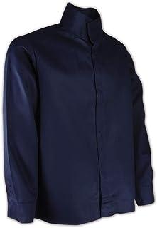 Magid Safety N1530 A.R.C. Jacket | 9 oz. NFPA 70E Compliant Arc-Resistant Jacket with an Inside Upper Left Patch Pocket & Mandarin Collar - Large, Navy Blue (1 Shirt)