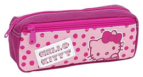 Giochi Preziosi - Hello Kitty Astuccio Triplo con Colori, Pennarelli ed Accessori Scuola