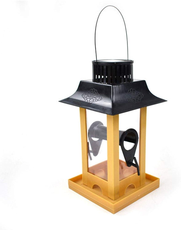 Creative Outdoor Solar Light Bird Feeder Pigeon Parred Feeder Balcony Hanging Hook Type Bird Feeding Supplies