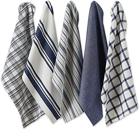 DII Assorted Woven 18x28 Nautical Blue 5 Count product image