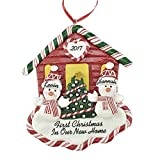 First Christmas New House 2020 for A Couple Personalized Ornament by Calliope Designs - Handcrafted - 4.5' Tall - Customization of Names, Year, Phrase - A Keepsake for New Home Owners
