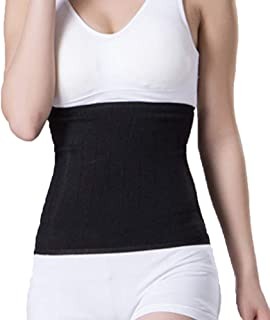 ITODA Warmer Lower Back Brace Compression Abdominal Binder Lumbar Support Waist Protection Knitted Breathable Kidney Stomach Pain Relief Belly Band Wrap