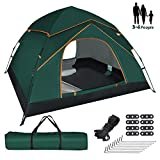 GEEDIAR Pop Up Tent for 3-4 Person,Automatic Instant Portable Dome Tent Water-resistant