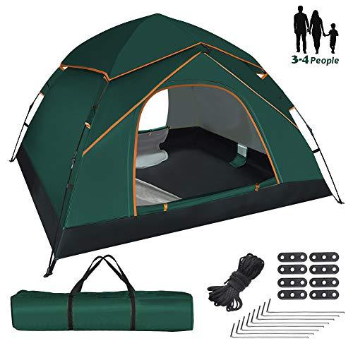 GEEDIAR Tente Camping 3-4 Personnes Anti UV...