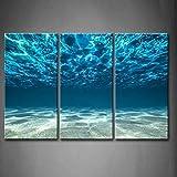 Blau Ozean Meer Wandkunst Malerei Das Bild Druck Auf Leinwand Seaview Bottom View Unter Der...