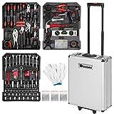 TecTake Maletín con herramientas 799pc piezas maleta trolley caja martillo alicates con 3 cajones