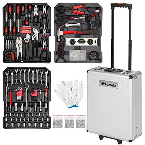 TecTake 799 pièces Mallette à outils trolley valise boite à tire caisse aluminium 3 tiroirs