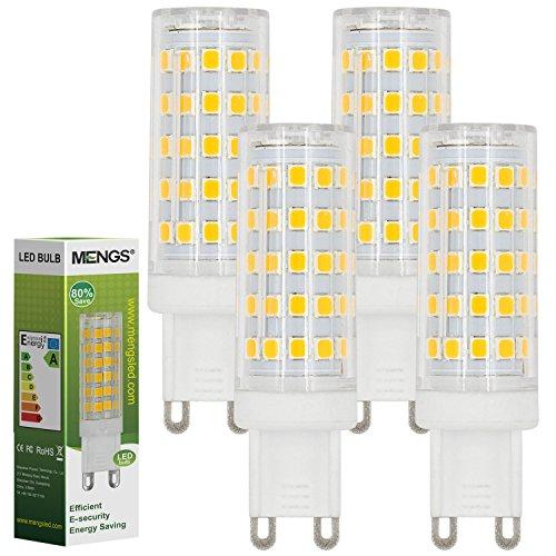 MENGS® 4 Stück G9 10W LED Lampe 64x2835 SMD AC 220-240V Kaltweiß 6500K Mit PC Material