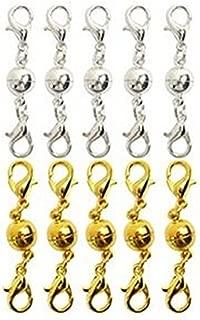 30 Kettenverschlüsse goldfarben 6 mm für Ketten Armbänder Federring