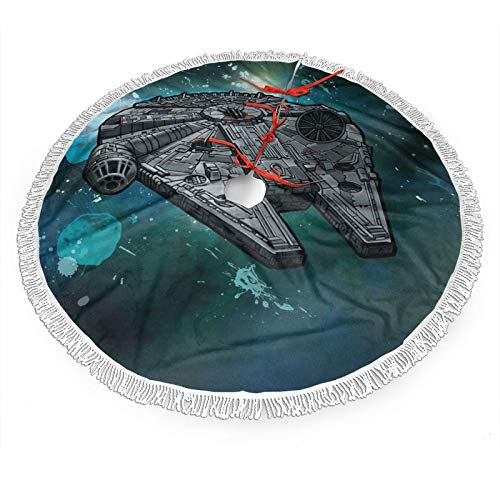 GmCslve Star War Christmas Tree Skirt 30 36 48 Inches Large Christmas Decorations Holiday Party Decor Ornaments48