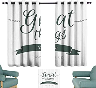 Mannwarehouse Quotes Decor Kids Room Curtains Modern Inspirational Lettering Great Thing Take Time Dont Give Up Lifestyle 70%-80% Light Shading, 2 Panels,55