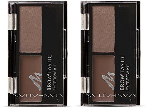 Manhattan Brow'Tastic Eyebrow Kit – Augenbrauen Wachs & Augenbrauenpuder im Eyebrow Set zum...