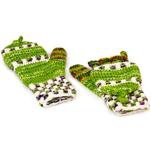Tumia LAC Bunt Fingerlose Handschuhe, viele Farben vorhanden, Fairtrade-handgestrickte Bolivien-One size