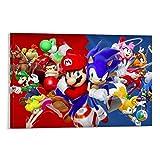 Drago VINES Super Mario Bros. Tela stampata Ar twork Dormitorio Decorazione da parete 50 x 75 cm