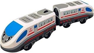 waterfaill Juguete De Tren, Juguete Clásico De Locomotora para Niños Steam-Era Freight Train, para Thomas BRIO Pista De Madera