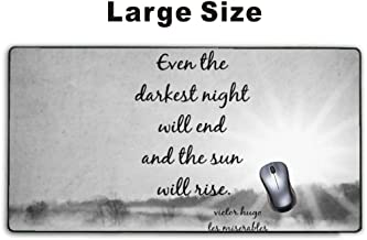 Mousepp - Large Gaming Mouse Pad,Extended Mousepad with Non-Slip Rubber Base for Laptop Computer Desktop Keyboard,Stitched Edges Mat - sun rise les miserables