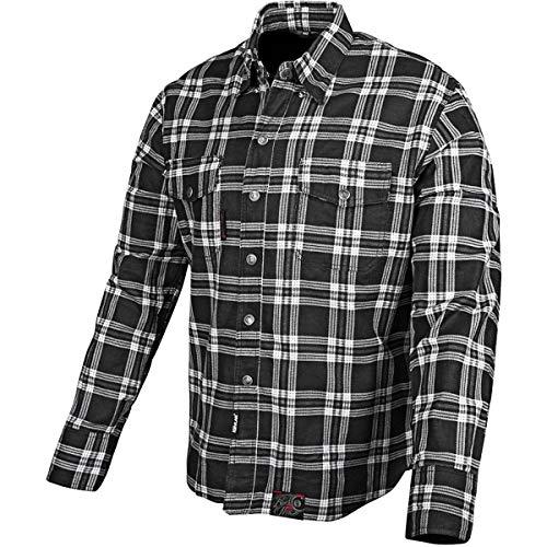 Speed and Strength Black Nine Men's Reinforced Moto Shirt (Black, Medium)