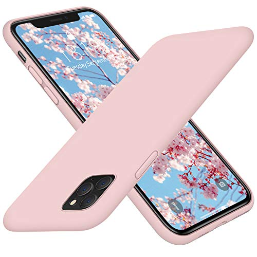 """DTTO iPhone 11 Pro Case, [Romance Series] Full Covered Shockproof Silicone Cover [Enhanced Camera and Screen Protection] with Honeycomb Grid Cushion for Apple iPhone 11 Pro 5.8 """" 2019, Pink Sand"""
