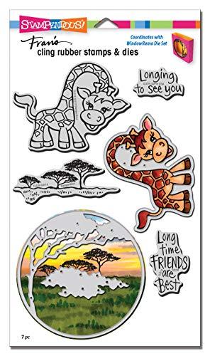 Stampendous Stempel und Stanzformen-Set, Giraffe, silberfarben