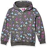 Nickelodeon JoJo Siwa Girls Hoodie Bow Unicorn Pink Zippered Jacket Hooded, Charcoal Heather, X-Large (14-16)