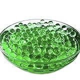 Irox 1000 perlas de agua de color verde militar, perlas de gel de gelatina de cristal, bolas mágicas para decoración de centros de mesa, casa, macetas de flores y plantas biodegradables