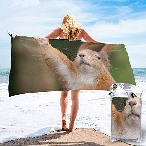 shenguang Funny Squirrel Printed Travel Quick Dry Bath Towels Sports Gym Microfiber Beach Towels Camping Swimming Compact Towel
