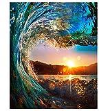 Yqgdss Sunset Clear Surf Puzzles Puzzles De 1000 Piezas Color Challenge Puzzles para Niños Pinturas Decorativas para Niños
