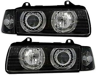 פנסיBMW 3סדרתE36 90-99עיניאנג'לשחורPOUK RHD ヘッドライト LPBM21WN XINOAU-HL-1088