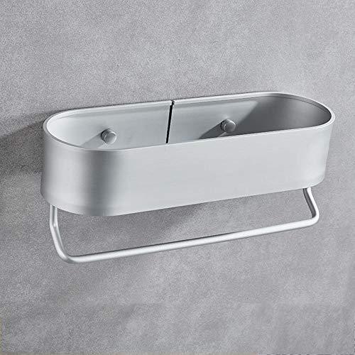 Estante para ducha, utilizado para almacenamiento y almacenamiento en el baño y la cocina, toallero en la pared, autoadhesivo, mate negro plateado mate, 30  40  50cm