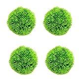 DreamMespace Bola de musgo de algas verdes – planta artificial de algas decorativas verdes planta acuática para jardines, hogares acuario tanque de cristal tarro terrario