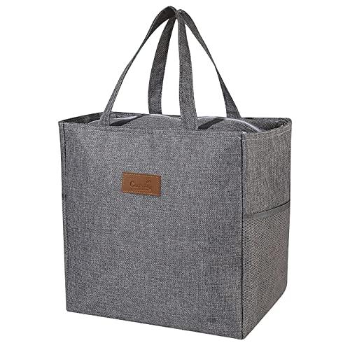 YUNYODA Kühltasche, Thermotasche Picknicktasch, Isolierte Tasche mit großer Kapazität Picknick-Tasche mit Reißverschluss Tragbare Lunch-Tasche Mehrzweck-Tragetasche für Outdoor-Camping-Grill-Reisen