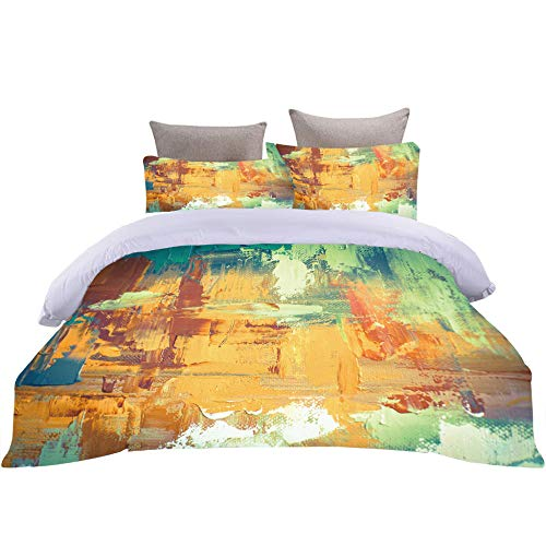 Bbaodan Printed Duvet Cover Set King Size Oil Painting Art 3Pcs 100% Microfiber Hypoallergenic Ultra Soft Bedding Quilt Cover Sets Home Docor With 2 Pillowcase / 86.6 X 90.5 Inch